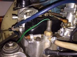 El cable del chivato fue reutilizado para conectar la termo resistencia de la aguja...