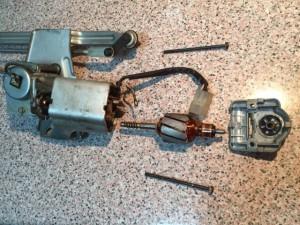 Despiece del motor del lipia parabrisas