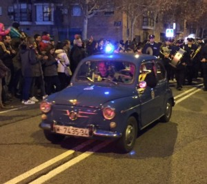 El 600 de la policía municipal iba abriendo el paso a sus Majestades los Reyes Magos
