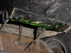 Parte inferior del radiador