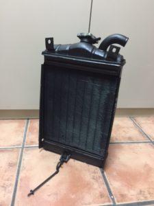El radiador del 600 por detrás